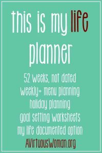 """""""This is My Life"""" Planner by A Virtuous Woman Review"""