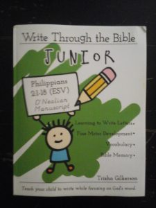 Write Through the Bible Junior Philippians 2:1-18 (ESV) D'Nealian Manuscript by Trisha Gilkerson Book Review