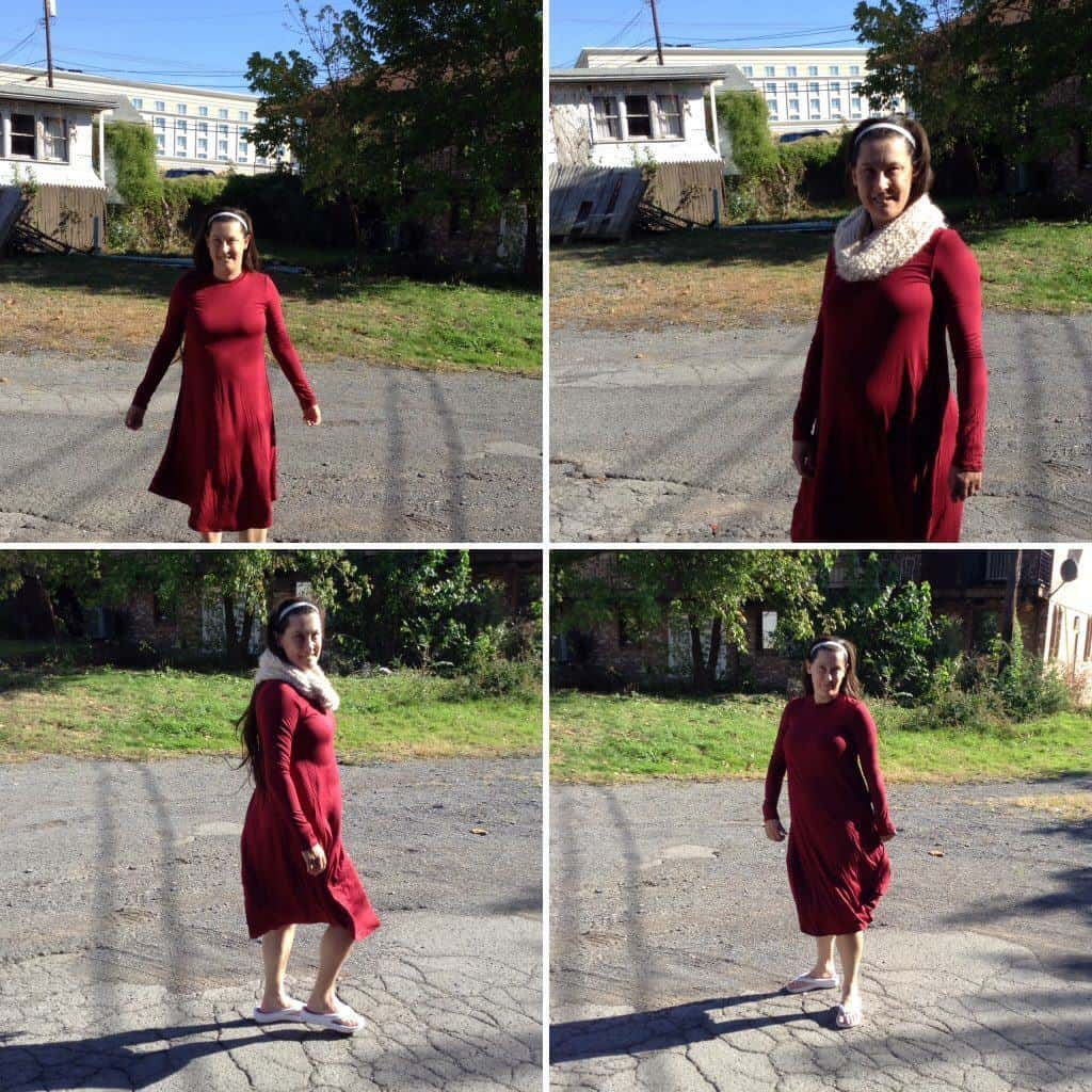 Remi Long Sleeve Swing Dress Review #centsofstyle