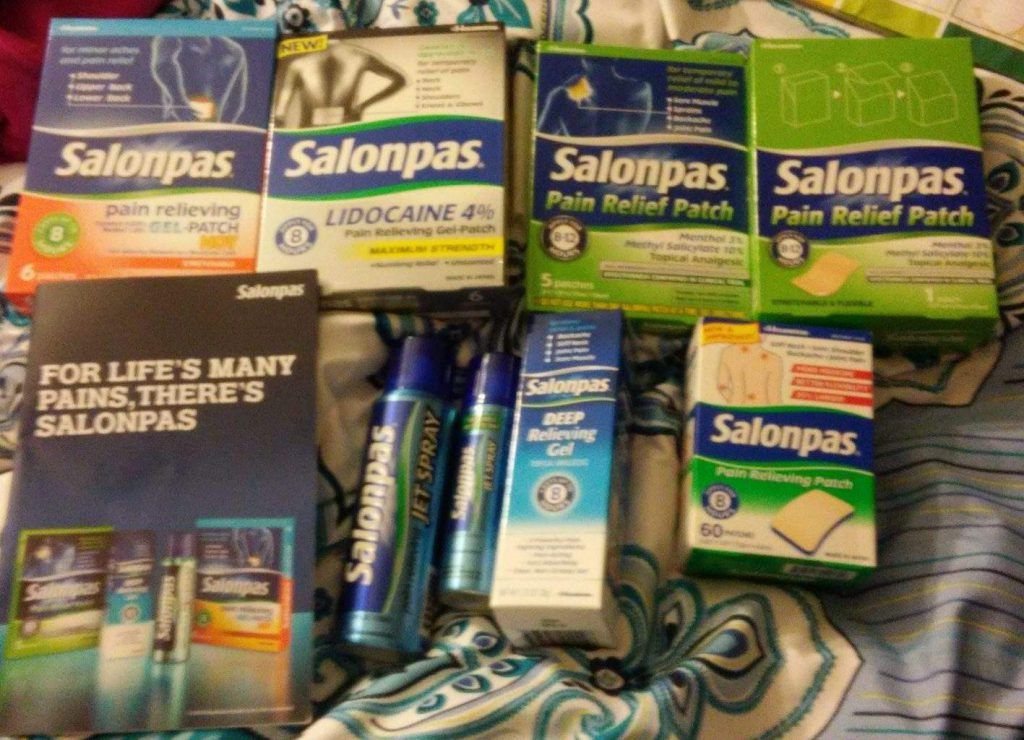 Santa's Salonpas Stocking Filled with Pain Relief